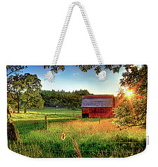 Sunset Over The Old Barn Weekender Tote Bag