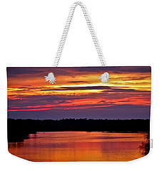 Sunset Over The Tomoka Weekender Tote Bag by DigiArt Diaries by Vicky B Fuller