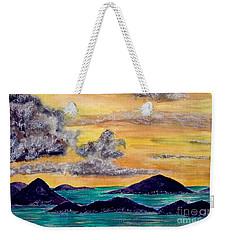 Sunset Over The Virgin Islands Weekender Tote Bag