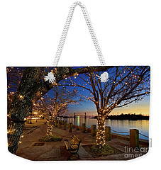 Sunset Over The Wilmington Waterfront In North Carolina, Usa Weekender Tote Bag