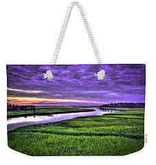 Sunset Over Turners Creek Savannah Tybee Island Ga Weekender Tote Bag