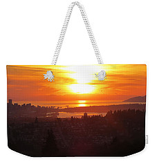 Sunset Over Vancouver Weekender Tote Bag