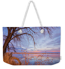 Weekender Tote Bag featuring the photograph Sunset Overhang by Darren White