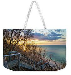 Sunset Overlooking Long Island Sound Weekender Tote Bag