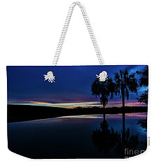 Weekender Tote Bag featuring the photograph Sunset Palms by Brian Jones