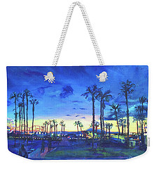Sunset Palms Santa Monica Weekender Tote Bag by Bonnie Lambert