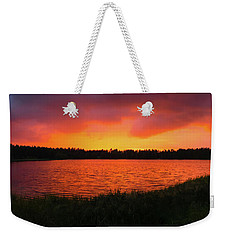 Sunset Panorama Weekender Tote Bag by Teemu Tretjakov