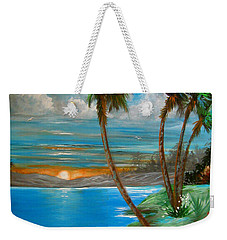 Weekender Tote Bag featuring the painting Sunset by Patrice Torrillo