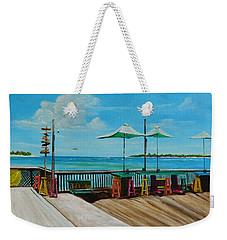 Sunset Pier Tiki Bar - Key West Florida Weekender Tote Bag by Lloyd Dobson