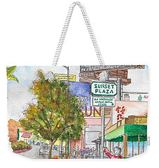 Sunset Plaza, Sunset Blvd., And Londonderry, West Hollywood, California Weekender Tote Bag