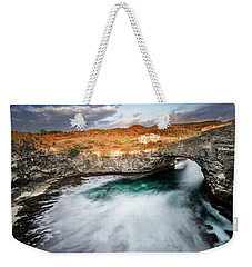 Weekender Tote Bag featuring the photograph Sunset Point In Broken Beach by Pradeep Raja Prints