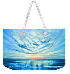 Sunset Quest Blue Weekender Tote Bag