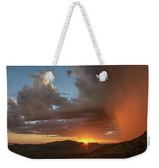 Weekender Tote Bag featuring the photograph Sunset Rainglow by Gaelyn Olmsted