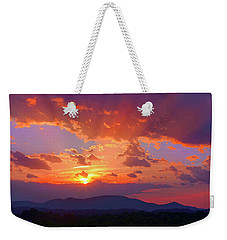 Sunset Rays At Smith Mountain Lake Weekender Tote Bag