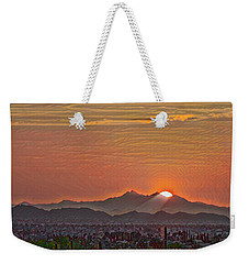 Weekender Tote Bag featuring the photograph Sunset Rays Remix by Dan McManus