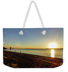 Sunset Reflecting On The Uruguay River Weekender Tote Bag