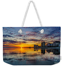 Sunset Reflection Weekender Tote Bag by David Smith