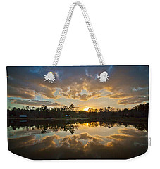 Sunset Reflections Weekender Tote Bag by Linda Unger