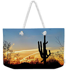 Sunset Saguaro In The Spring Weekender Tote Bag