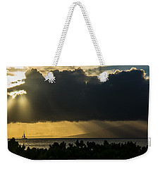Weekender Tote Bag featuring the photograph Sunset Sail by Colleen Coccia