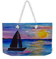 Sunset Sail Small Weekender Tote Bag