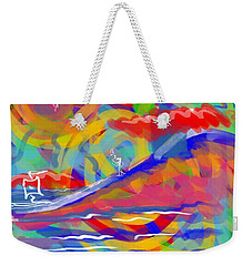 Sunset Sailboat Weekender Tote Bag