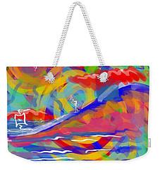 Sunset Sailboat Weekender Tote Bag by Jason Nicholas