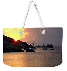 Sunset Sailing Boats Weekender Tote Bag
