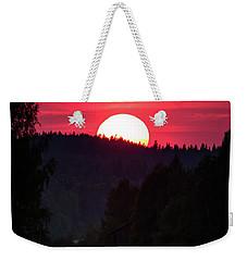 Sunset Scenery Weekender Tote Bag by Teemu Tretjakov