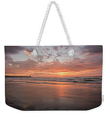 Sunset Scripps Beach Pier Img 5 La Jolla San Diego Ca Weekender Tote Bag by Bruce Pritchett