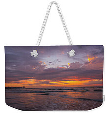 Sunset Scripps Beach Pier La Jolla Ca Img 2 Weekender Tote Bag by Bruce Pritchett