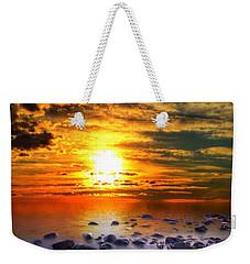 Sunset Shoreline Weekender Tote Bag