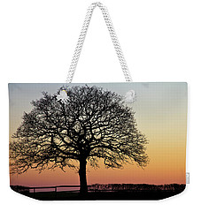 Weekender Tote Bag featuring the photograph Sunset Silhouette by Clare Bambers