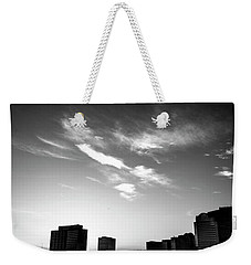 Weekender Tote Bag featuring the photograph Sunset Silhouette by Eric Christopher Jackson
