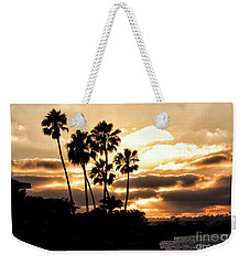 Sunset Silhouette In San Diego  Weekender Tote Bag