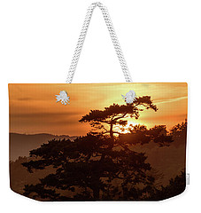 Sunset Silhouette Weekender Tote Bag by Keith Boone