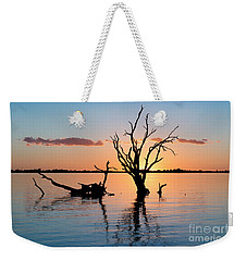 Weekender Tote Bag featuring the photograph Sunset Silhouette by Ray Warren