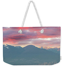 Sunset Sky Over Port Of Vancouver Bc Weekender Tote Bag