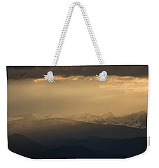Weekender Tote Bag featuring the photograph Sunset Softness by Colleen Coccia