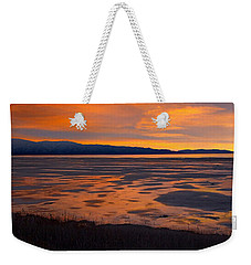 Sunset,  South Shore, Great Salt Lake Weekender Tote Bag