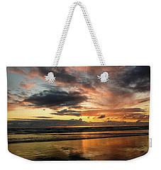Sunset Split Weekender Tote Bag