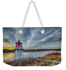 Sunset, Squirrel Point Lighthouse Weekender Tote Bag