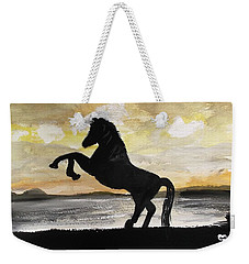 Sunset Stallion Weekender Tote Bag