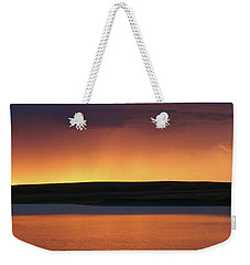 Weekender Tote Bag featuring the photograph Sunset Storm by Heidi Hermes