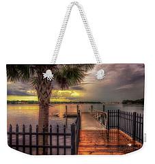 Sunset Storm Weekender Tote Bag