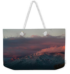 Sunset Storm On The Sangre De Cristos Weekender Tote Bag