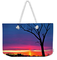 Sunset Sundog  Weekender Tote Bag by Ricky L Jones