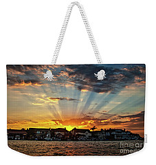 Sunset Sunrays Over Huntington Harbour Weekender Tote Bag