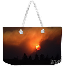Sunset Through Smoke Weekender Tote Bag
