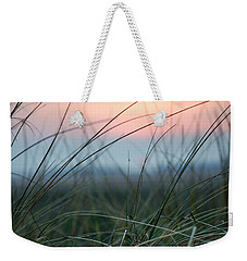 Sunset  Through The Marsh Grass Weekender Tote Bag by Spikey Mouse Photography